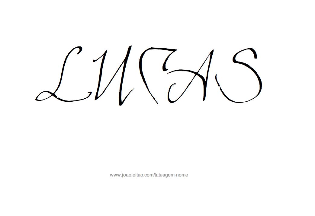 Desenho Tatuagem com o Nome Lucas