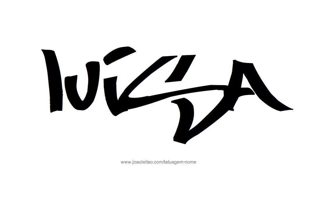 Desenhos de Tatuagem com o Nome Luisa