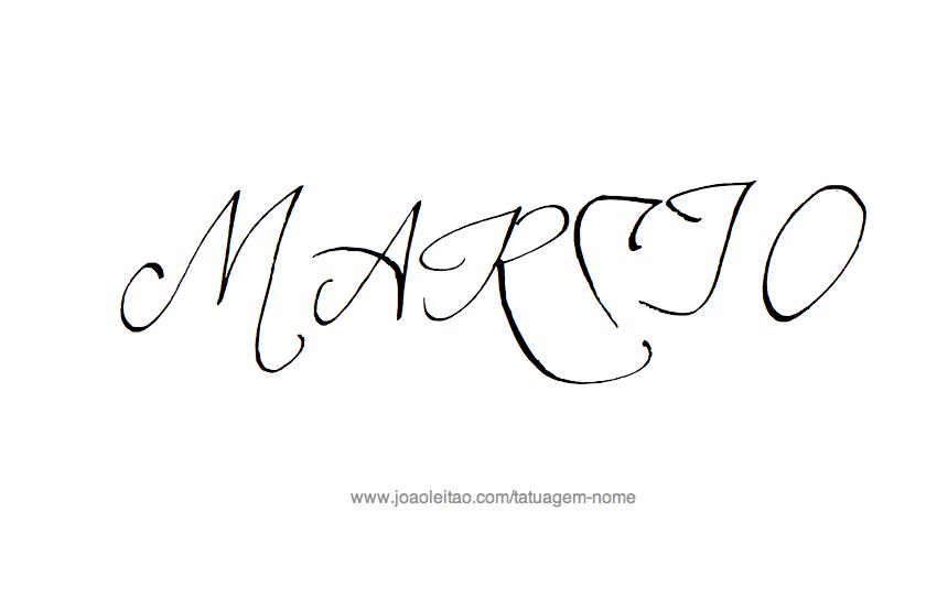 Desenho de Tatuagem com o Nome Marcio