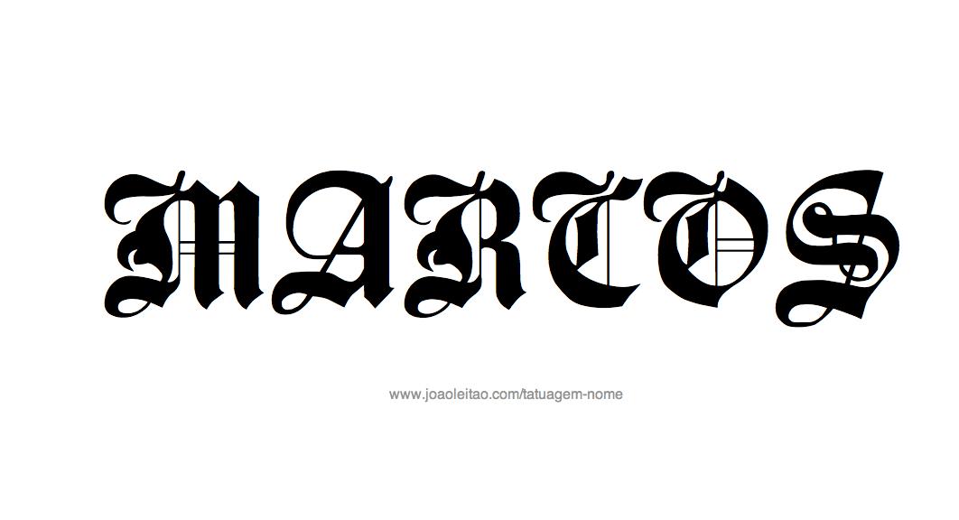 Desenhos de Tatuagem com o Nome Marcos