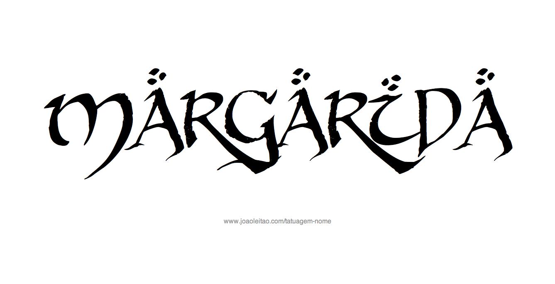 Desenho de Tatuagem com o Nome Margarida