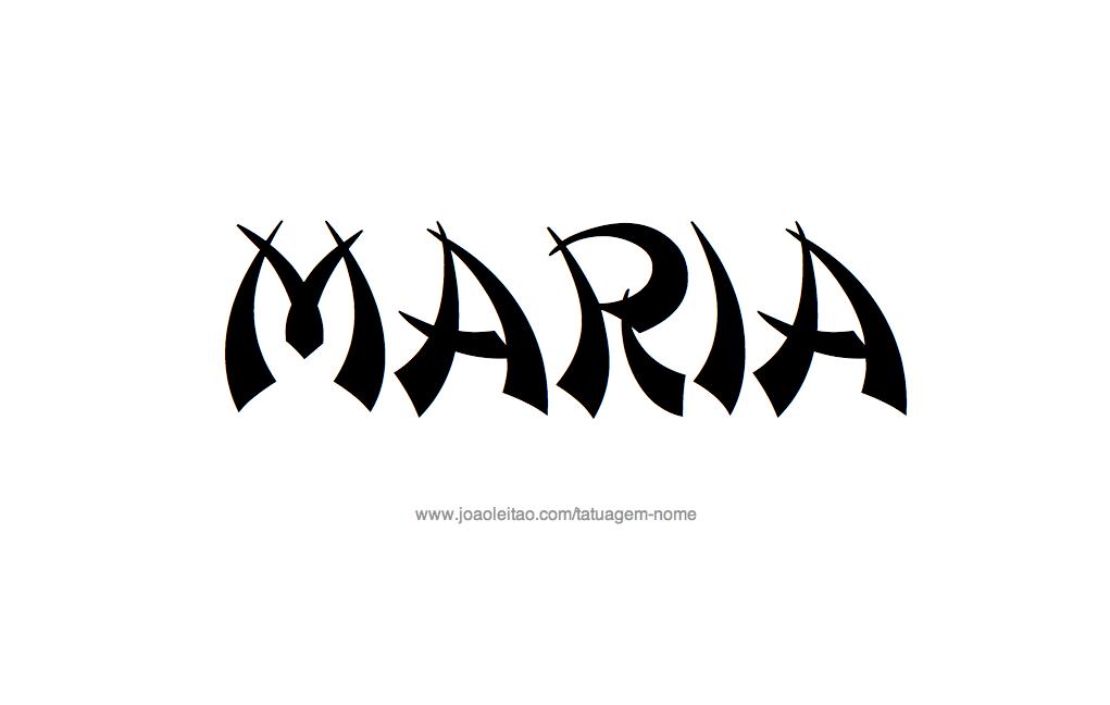 Desenho Tatuagem com o Nome Maria