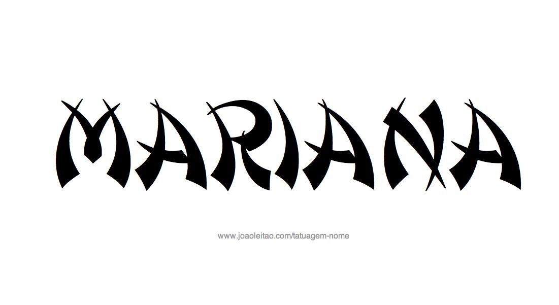 desenhos de tatuagem com o nome mariana. Black Bedroom Furniture Sets. Home Design Ideas