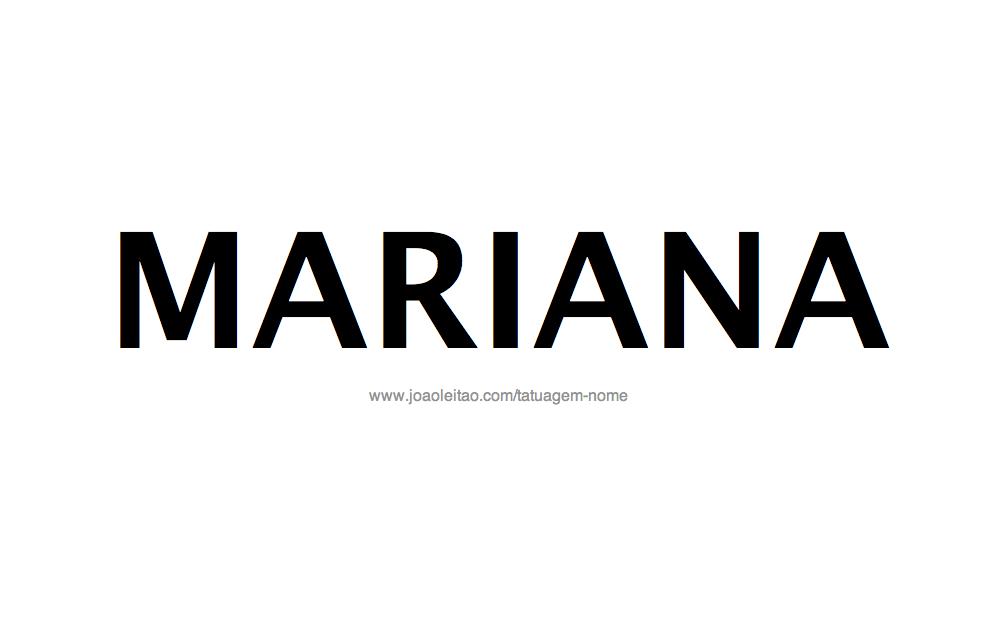 Desenho de Tatuagem com o Nome Mariana