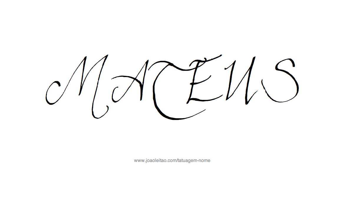 Desenho Tatuagem com o Nome Mateus