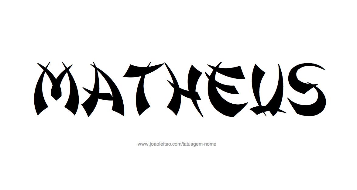 Desenho de Tatuagem com o Nome Matheus