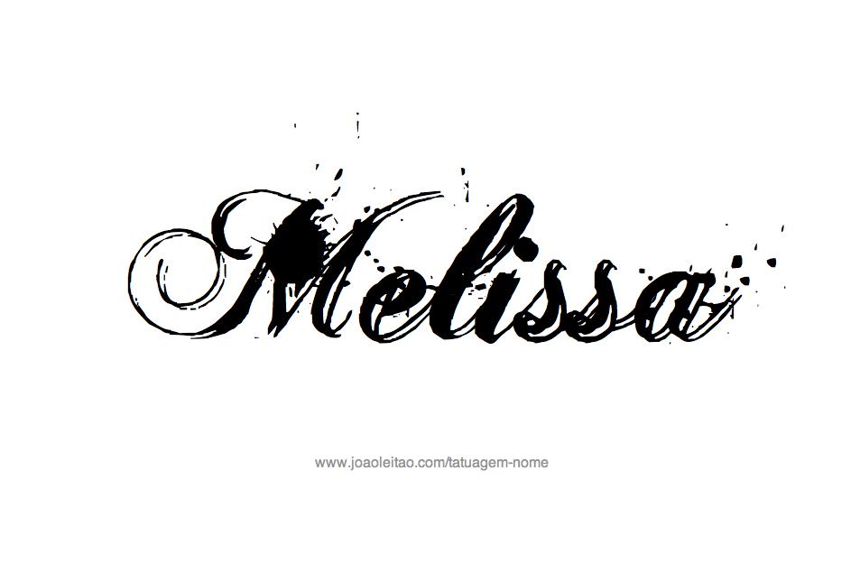 Desenho de Tatuagem com o Nome Melissa