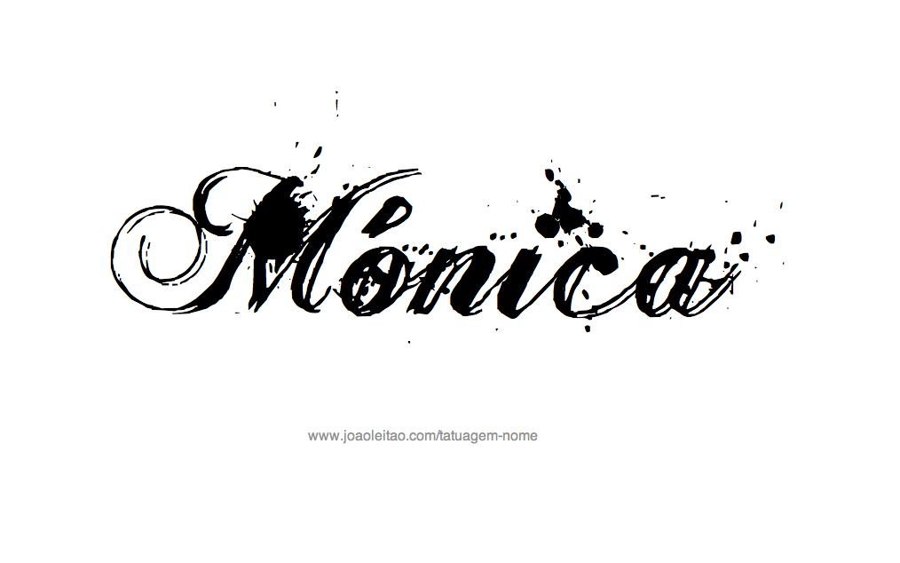 Desenho de Tatuagem com o Nome Monica