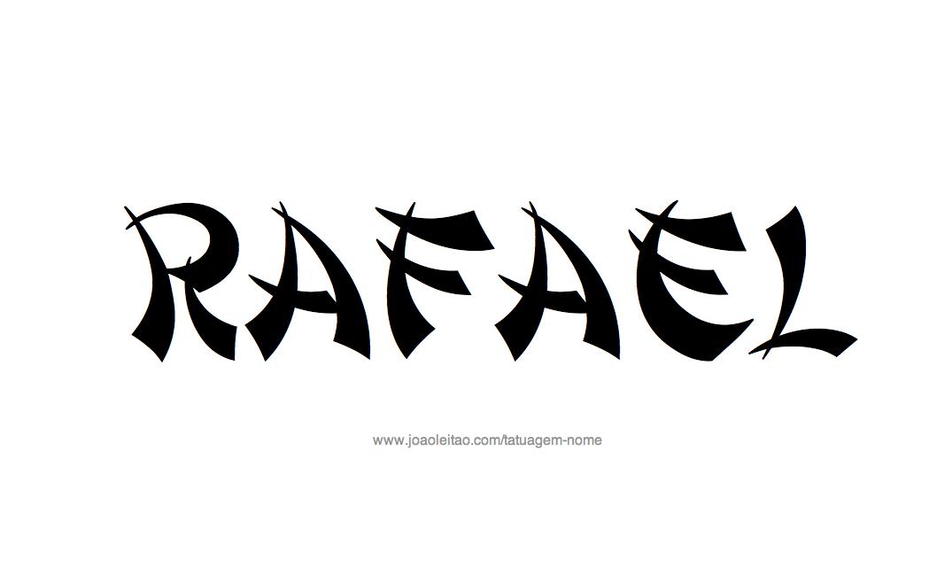 Desenho de Tatuagem com o Nome Rafael
