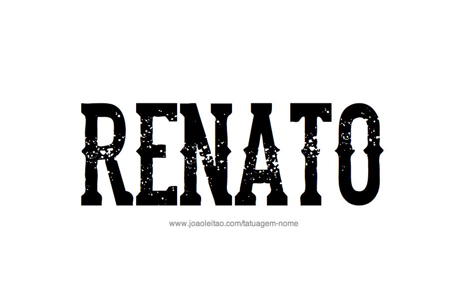 Desenho de Tatuagem com o Nome Renato