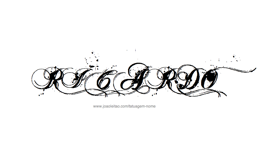 Desenho de Tatuagem com o Nome Ricardo