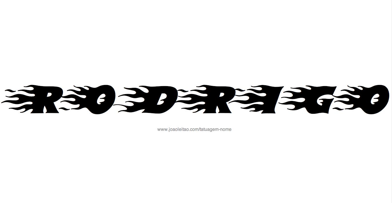 Desenho Tatuagem com o Nome Rodrigo