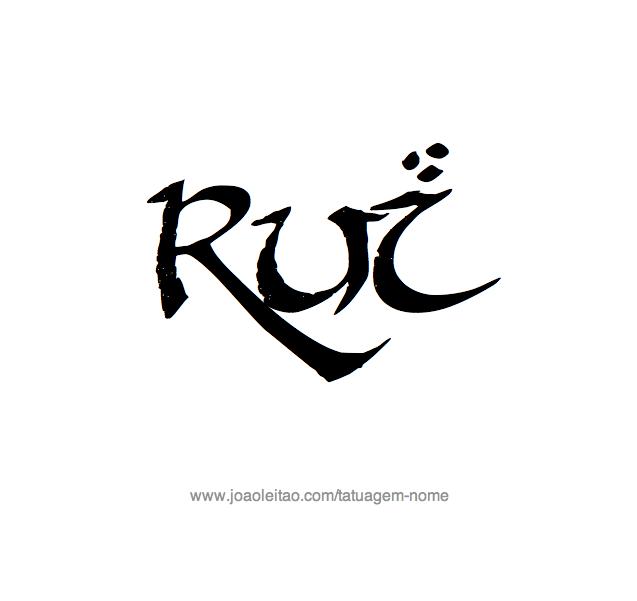 Desenho de Tatuagem com o Nome Rui