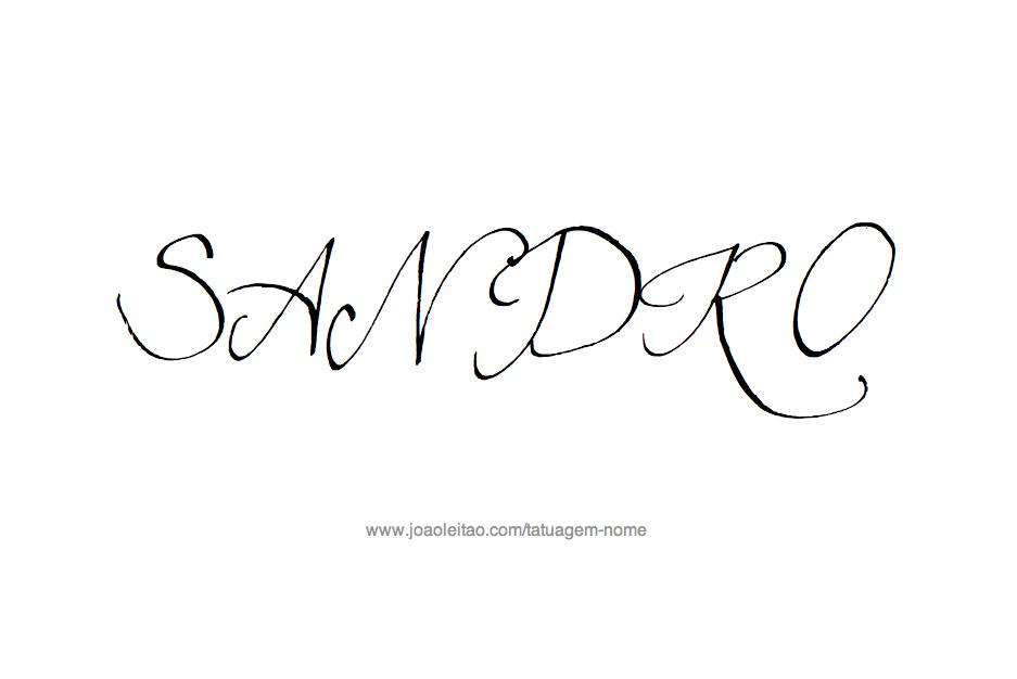 Desenho de Tatuagem com o Nome Sandro