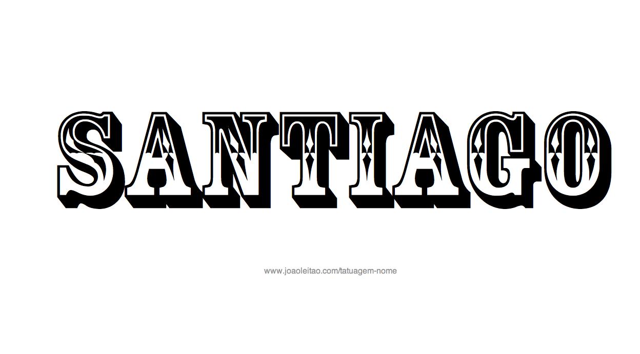 Desenhos de Tatuagem com o Nome Santiago