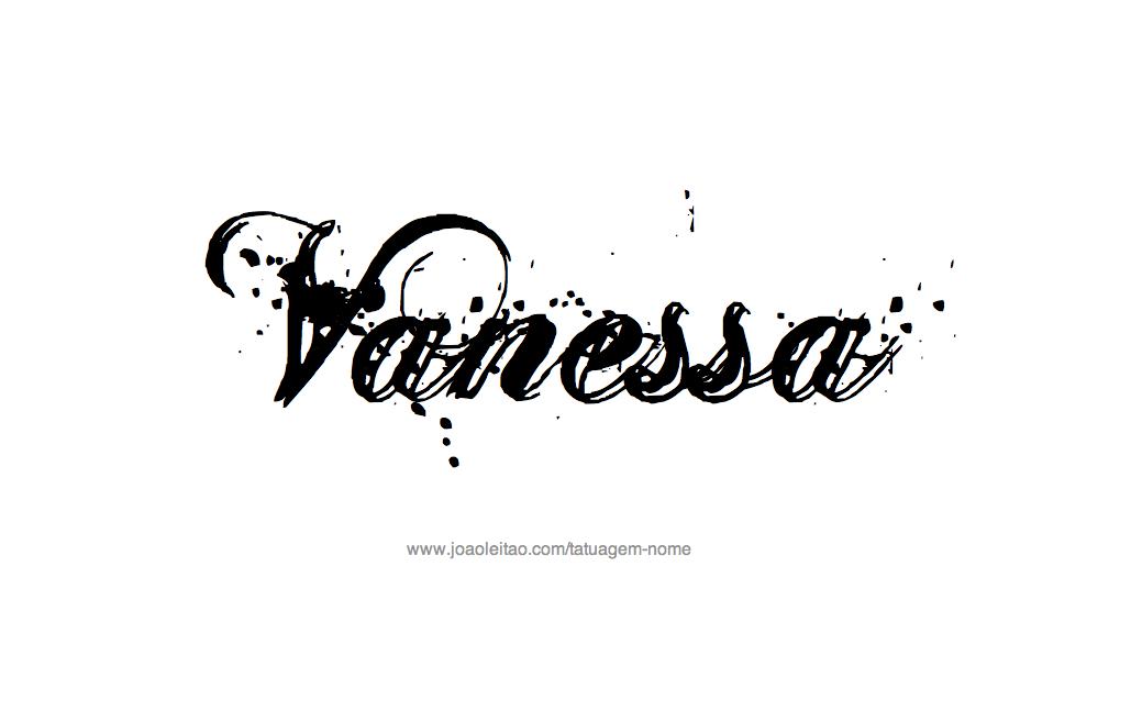 Desenho de Tatuagem com o Nome Vanessa