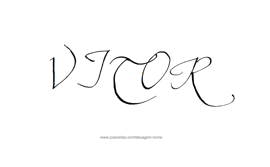 Desenho Tatuagem com o Nome Vitor