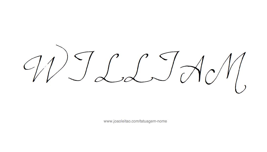Desenho de Tatuagem com o Nome William