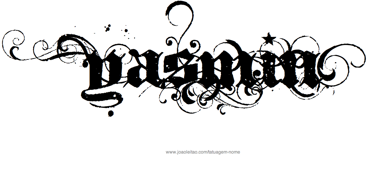 de tatuagem com o nome yasmin desenho de tatuagem com o nome yasmin