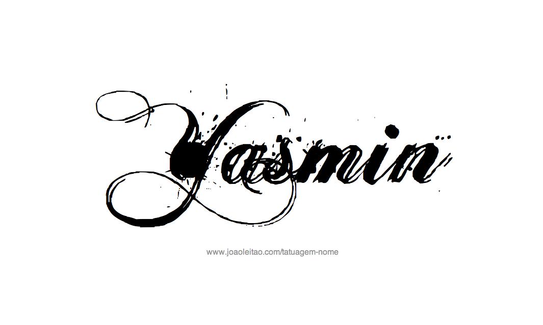 Desenho de Tatuagem com o Nome  Yasmin