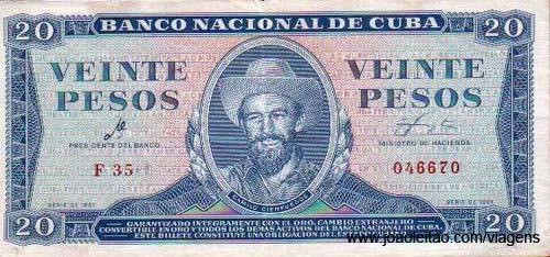 Uma nota de 10 Pesos convertibles