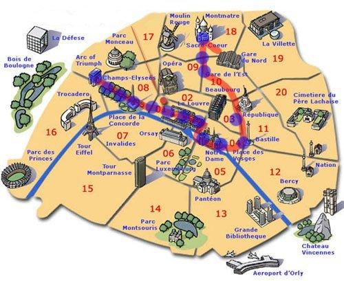 Mapa Do Centro De Paris Roteiros E Dicas De Viagem - Paris mapa