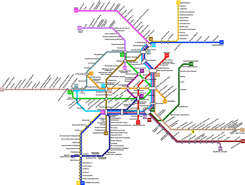 Map Transportation Vienna