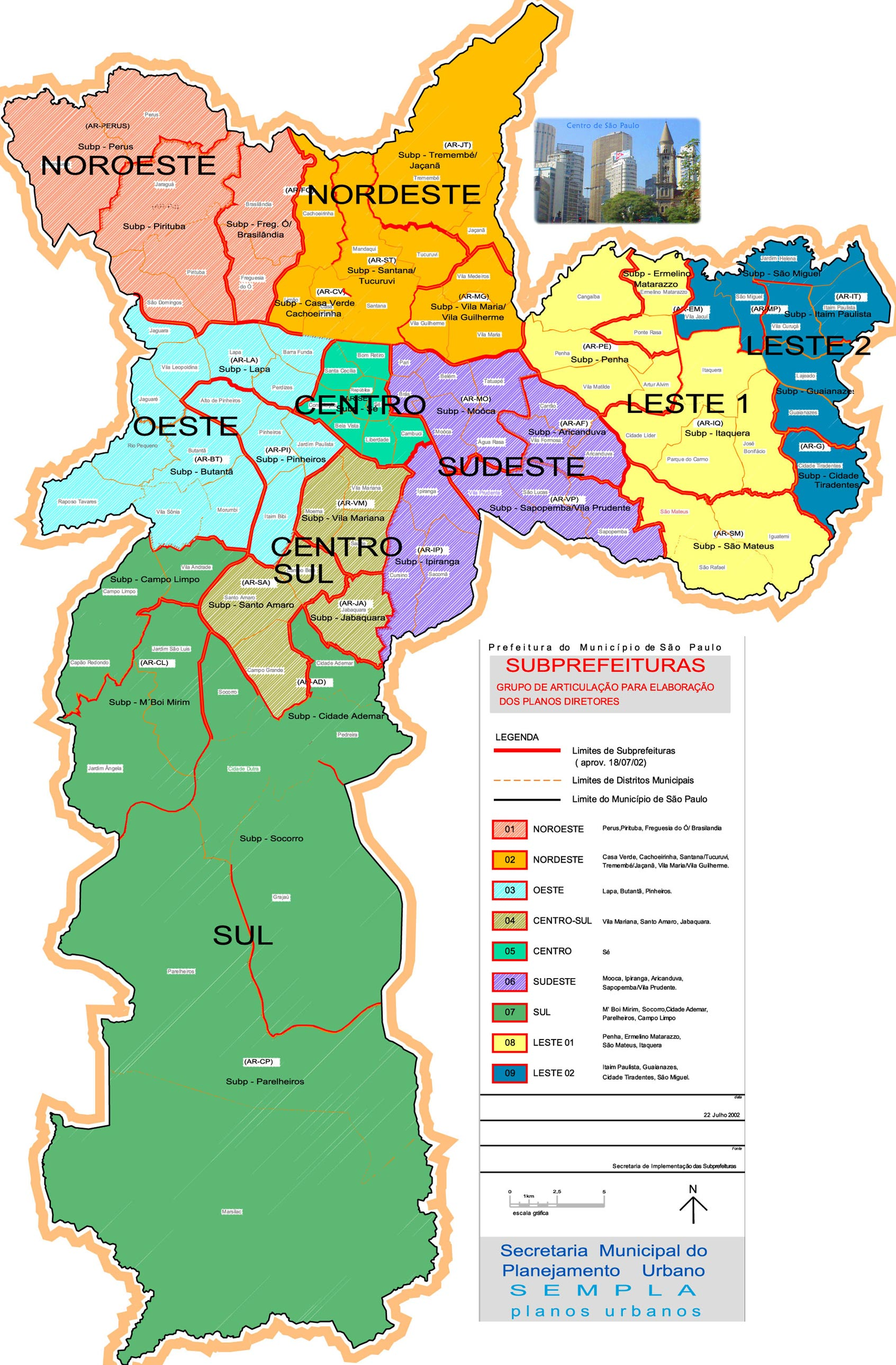 Mapa Regiao Sao Paulo