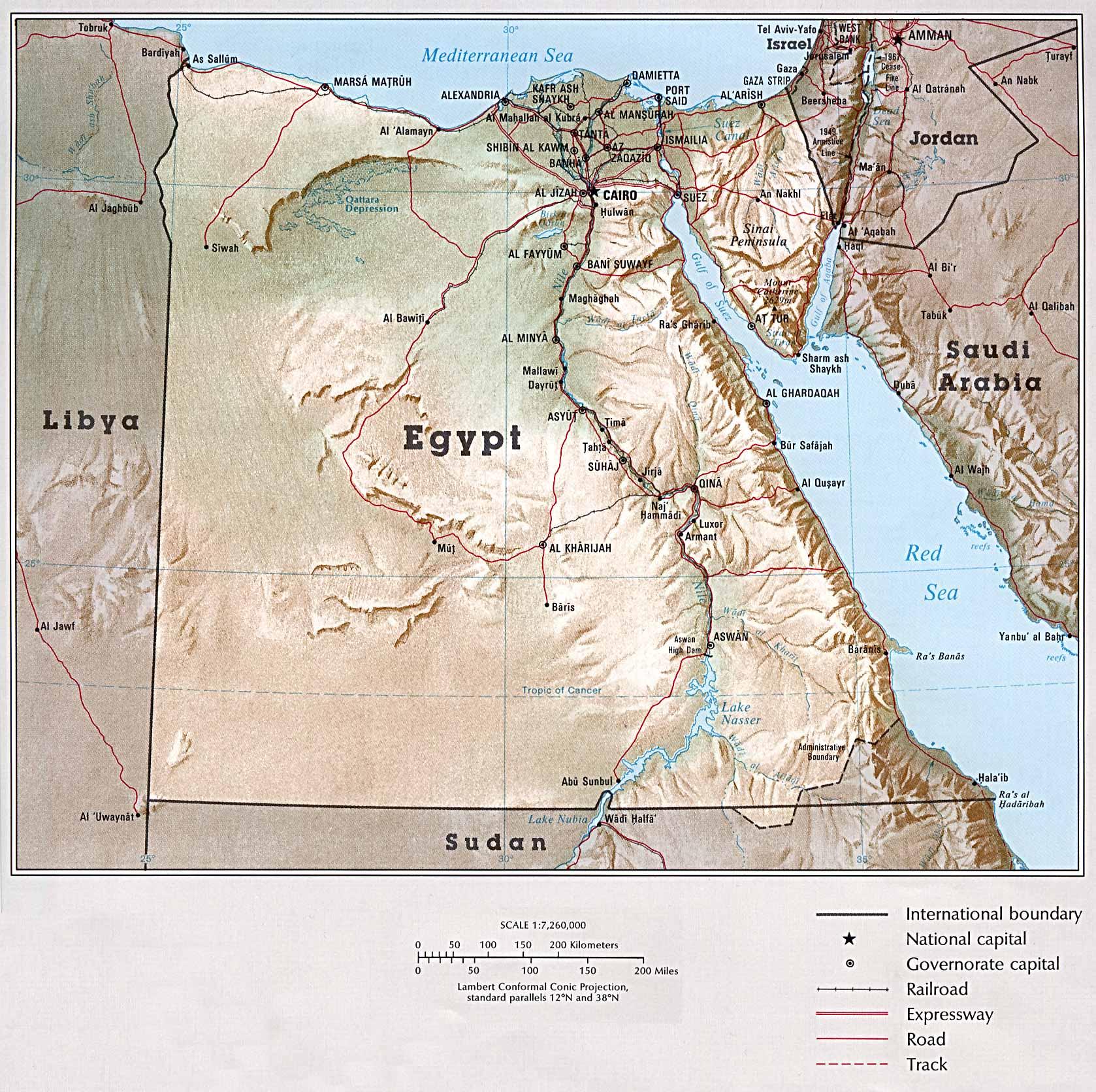 Mapa Grande do Egipto