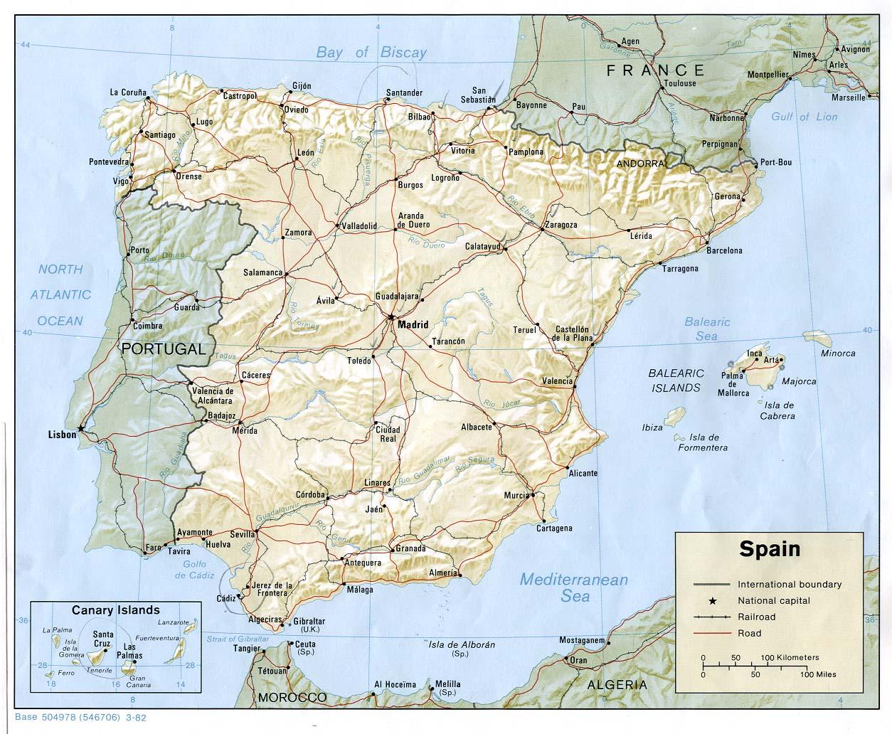 Mapa Politico de Espanha