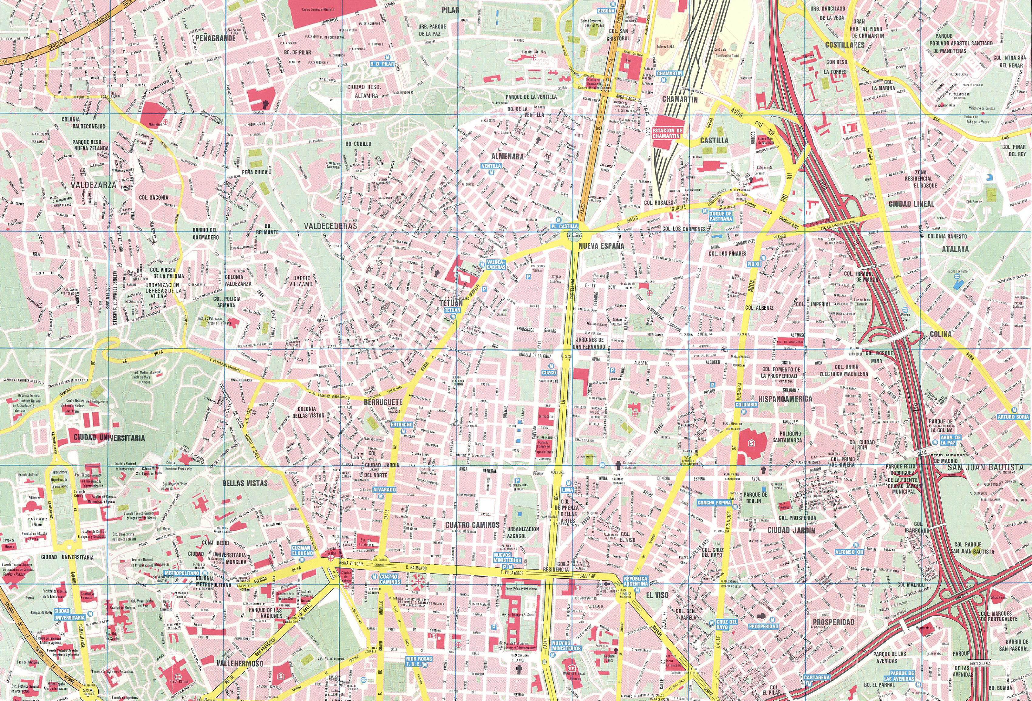 Grande Mapa de Madrid