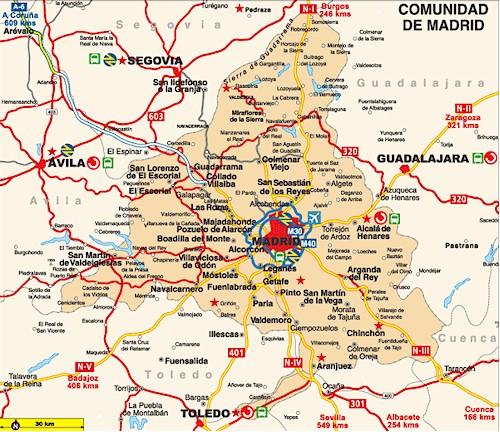Mapa aeroporto Madrid