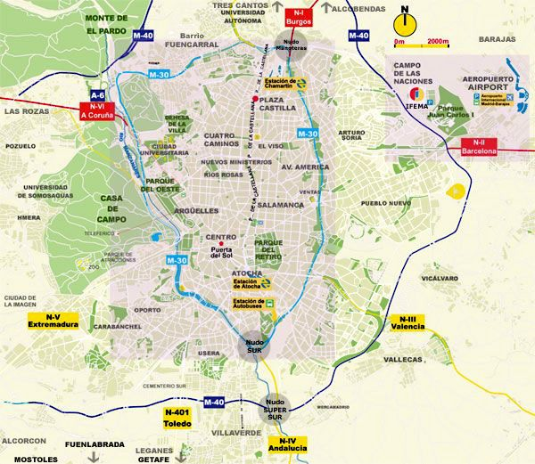 Mapa Acceso Madrid