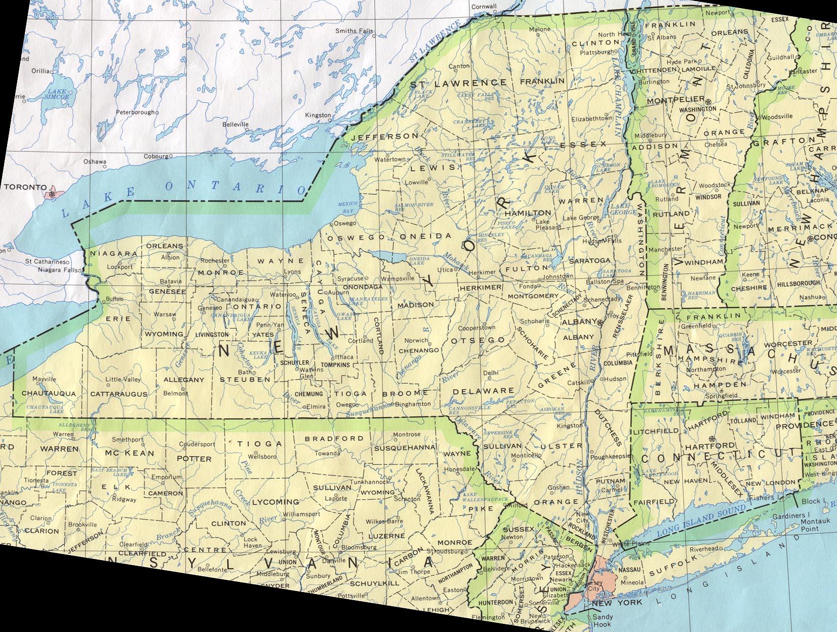 Mapa de Nova Iorque