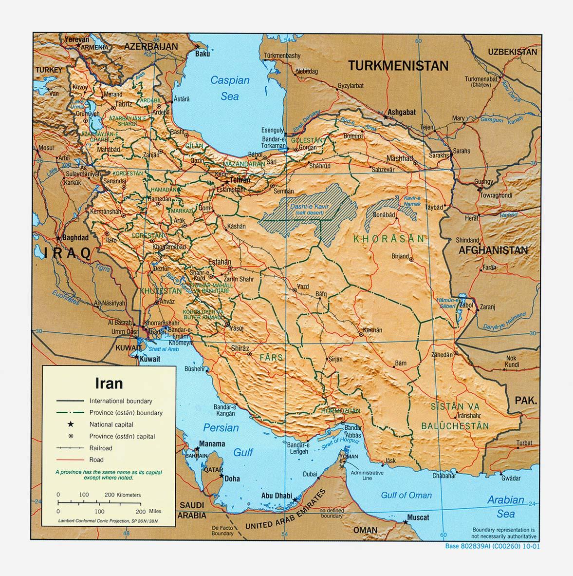 Iran Maps – Afghanistan Iran Map