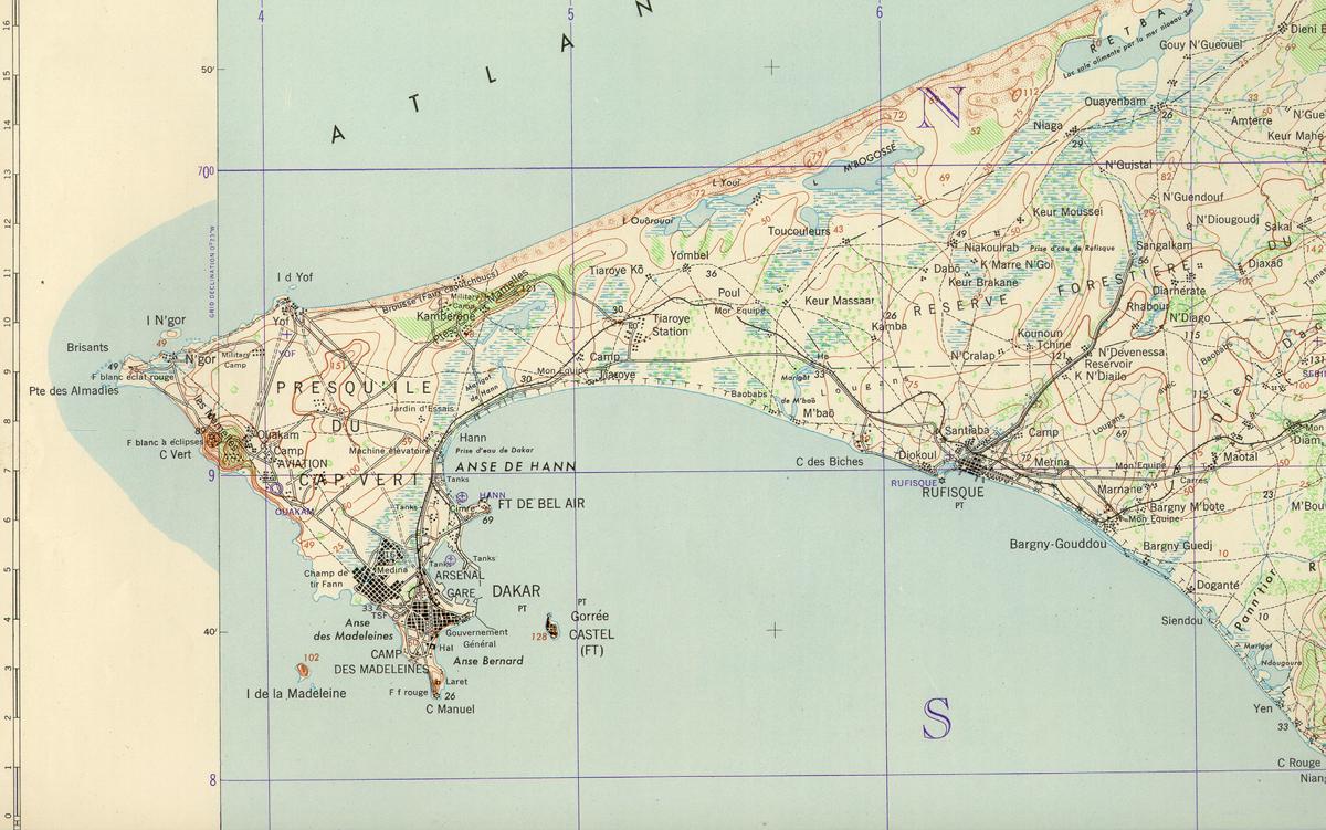 Mapas de dakar dacar mapas mapas do senegal for Plan de dakar