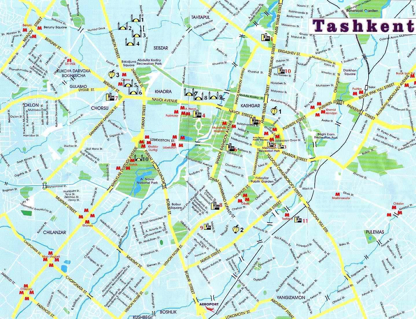 Mapa de Tashkent