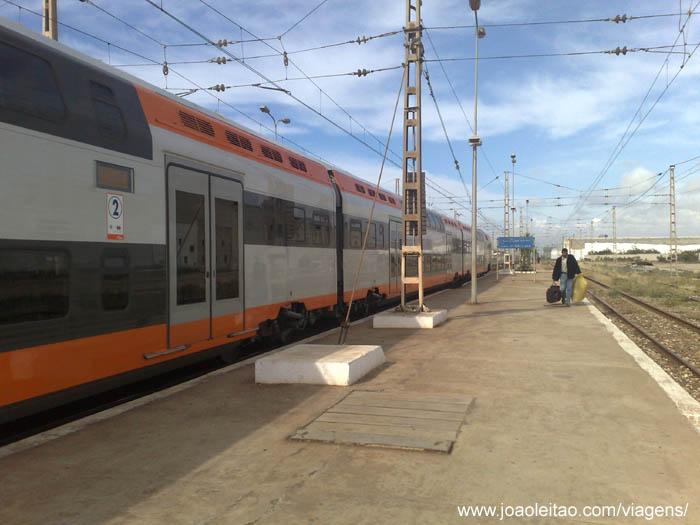 Train from Casablanca to Marrakech, Morocco