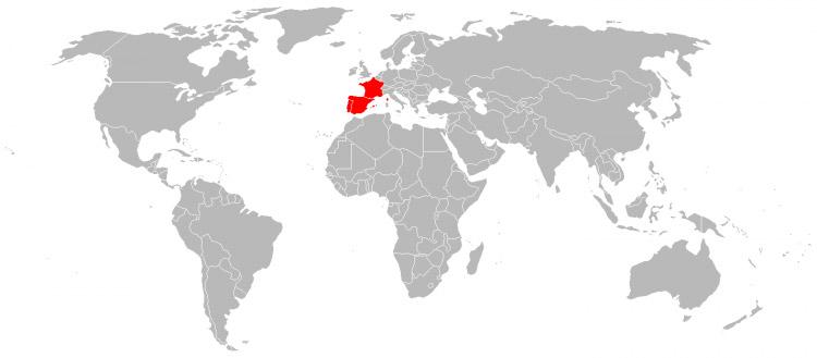 Mapa de Viagens em 1999