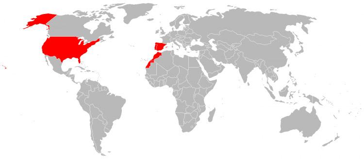 Mapa de Viagens em 2000