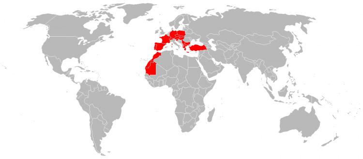 Mapa de Viagens em 2003