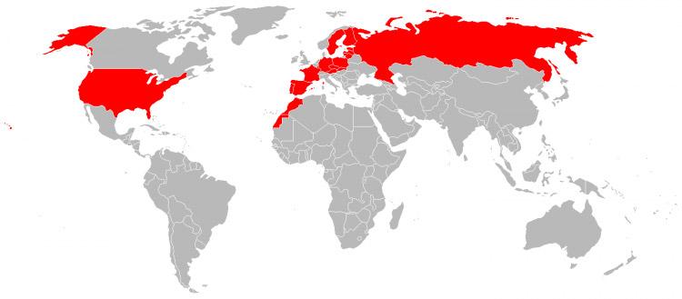 Mapa de Viagens em 2005