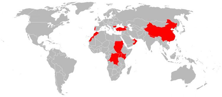 Mapa de Viagens em 2011