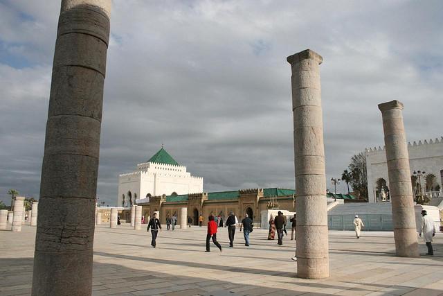 Complexo do Mausoléu Mohamed V na cidade de Rabat