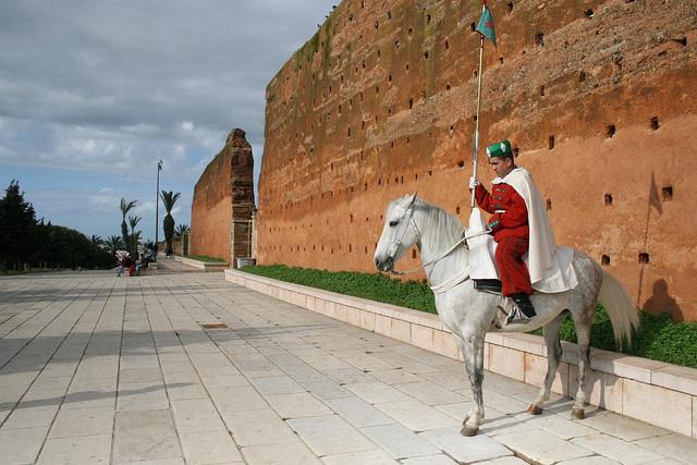 Guardas reais a cavalo em Rabat