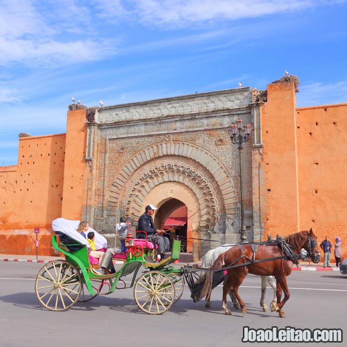 Porta Bab Agnaou em Marrakech