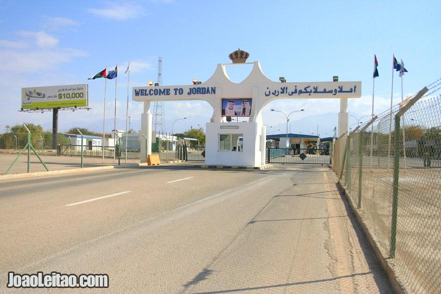 Fronteira da Jordânia vindo de Israel na cidade de Eilat