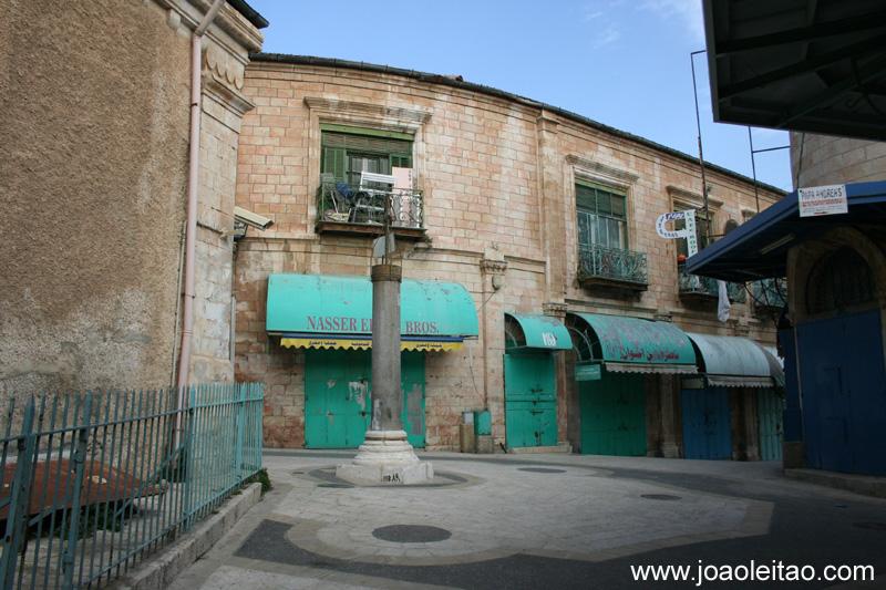 Rua na Cidade Velha de Jerusalem