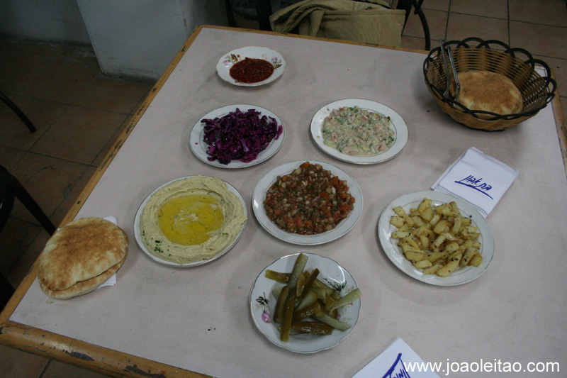 Comida tipica da região em Jerusalem