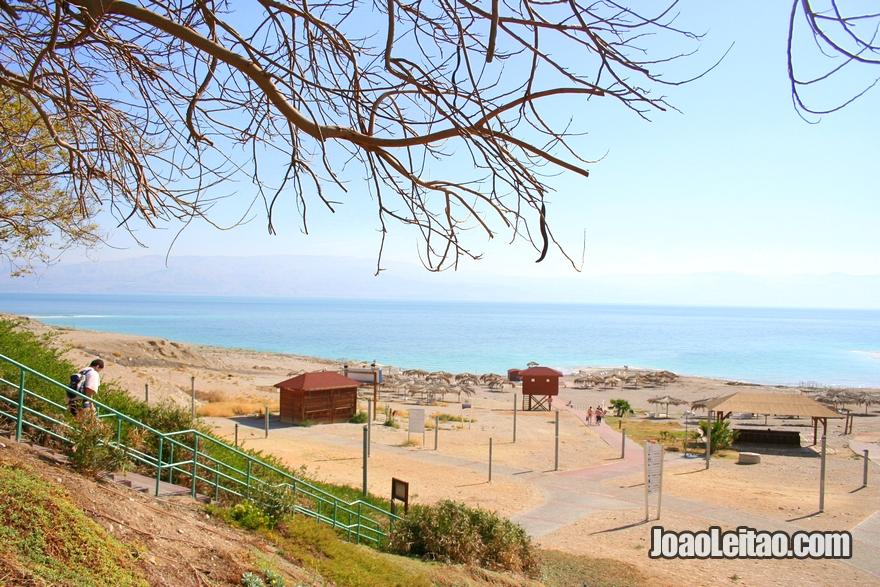 Estância balnear do Mar Morto em Israel